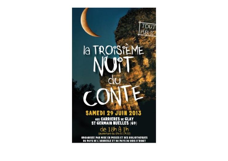 Nuit du conte  29 juin 2013 Programme